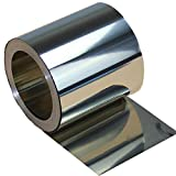 Tong Gu 10cm Titanium Foil Sheet Plate Material 99.8% Pure 0.1-0.5mm Thick x 10cm Wide (Length x Width: 100 x 100mm, Thickness: 0.3mm)