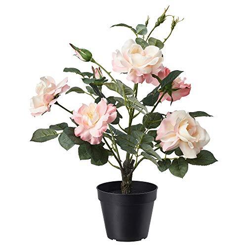 Ikea FEJKA Topfpflanze, künstlich, drinnen/draußen, rosa, 12 cm, Rose pink