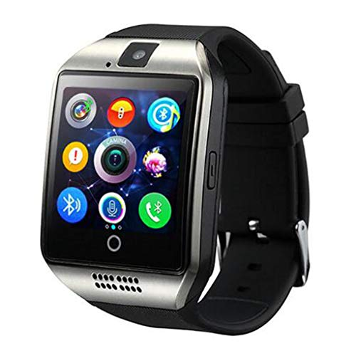 JingJingQi smart watch Bluetooth Smart Watch mannen Q18 Met Camera Facebook Whatsapp Twitter Sync SMS Smartwatch Ondersteuning SIM TF-kaart Voor IOS Android