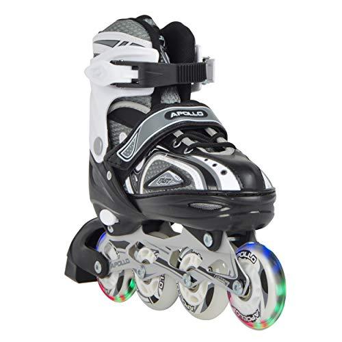 Apollo Super Blades, größenverstellbare Inliner, Größe M (35-38), LED Inline-Skates