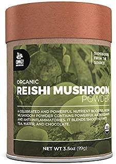 OMG! Superfoods Organic Reishi Mushroom Powder - 100% Pure, USDA Certified Organic Reishi Mushroom Powder – 3.5oz