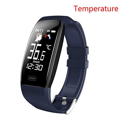 chenpaif T5 Smart Watch Temperatura Monitor de Ritmo cardíaco Fitness Traker Pulsera Bluetooth