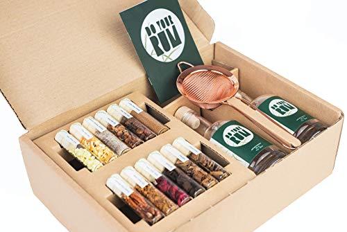 DO YOUR RUM | DIY Infusion Set für zu Hause & als Geschenk | Flavoured & Aged Rum einfach selber-machen | 12 Hölzer & Botanicals im Glas | DO YOUR GIN bekannt aus Sat1, Vogue, Spiegel