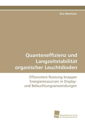 Quanteneffizienz und Langzeitstabilität organischer Leuchtdioden: Effizientere Nutzung knapper Energieressourcen in Display- und Beleuchtungsanwendungen