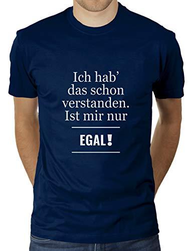 KaterLikoli - Maglietta da uomo con scritta in lingua tedesca Navy francese L