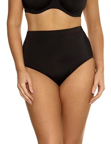 Elomi Plus Size Classic Shaping Bikini Swim Bottom, 14, Black