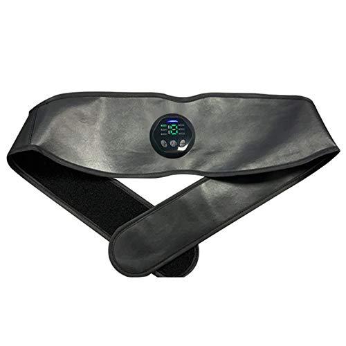 Breezeu CinturóN Adelgazante Inteligente EMS Aparato Abdominal Modelado CinturóN de Soporte de Cintura Etiqueta de Masaje Abdominal (Pantalla Digital)