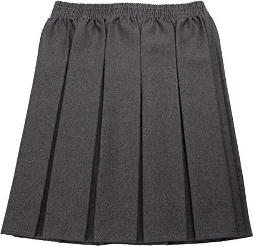 CreativeMinds UK - Falda de uniforme escolar para niña, diseño plisado, cintura elástica Azul azul marino 9-10 Años