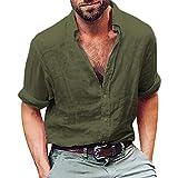 Camisas Casual Hombre Manga Larga, Covermason Blusa de Playa