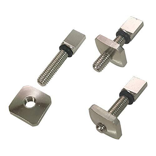 iBOARD Tornillo de aleta profesional 3 piezas de acero inoxidable accesorios para tabla de surf SUP Paddleboard centro aleta