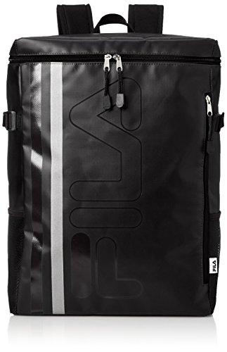 [フィラ] リュック メンズ レディース リュックサック 大容量 カジュアル ブランド 防水 撥水 23l a4 a3サイズ 通学 通勤 旅行バッグ 軽量 ロゴ FM2017 ブラック F