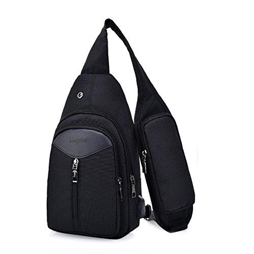 Estwell Brusttasche Sling Rucksack Umhängetasche Daypack Herren Damen Outdoor Multifunktion Schultertasche mit USB Kabel