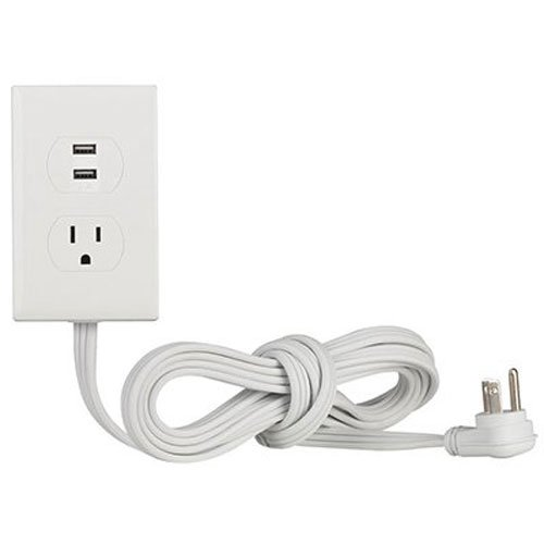 RCA AC Outlet Anywhere with 2 USB Ports (PWA2USB6Z)