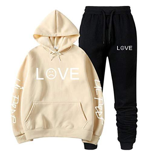 EMPERSTAR Lil Peep Camiseta pulóver Sudadera con Capucha pulóver cómodo Lil Peep Chaqueta Vaquera Sudaderas para Mujer XL