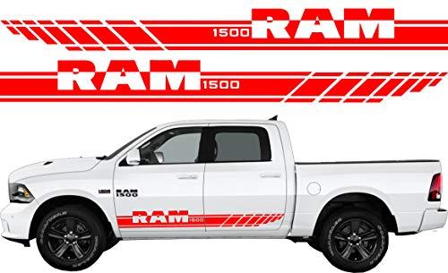BLS Vinyl Decal Graphics Kit voor Dodge Ram 1500 Stickers Rood