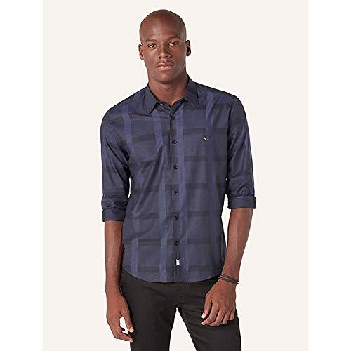 Camisa Aramis Slim Chess Azul