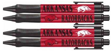 Westrick Paper NCAA Arkansas Razorbacks 4 Pack Soft-Grip Ergonomic Ball Point Pen