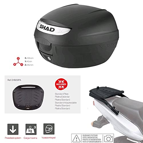Kit-shad-94 - Kit fijacion y Maleta baul Trasero sh26 Compatible con Honda CBF 250 2004-2008