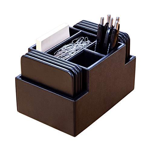 Dacasso Organizador de escritorio, tela, negro, 6,81 x 4,81 x 4,38