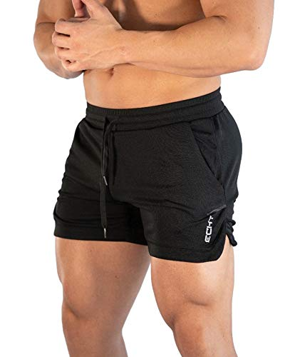 Superora Hombres Running Gym 2 en 1 Pantalones Cortos Deportivos Pantalones Cortos de Entrenamiento al Aire Libre Transpirables con Bolsillos
