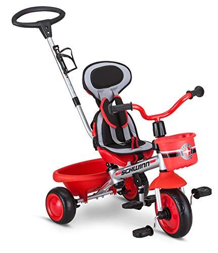 Schwinn Roadster Kids Tricycle, Easy Steer 4 in 1 Tricycle , Red,41' x 20' x 41'
