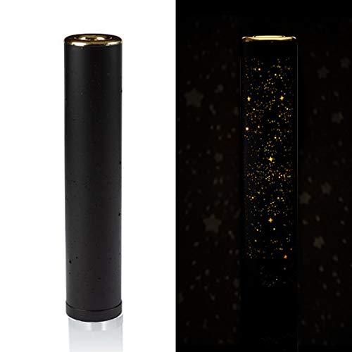 Preisvergleich Produktbild (Schwarz) Dekorative und moderne Stehlampe / Tischlampe mit LED-Beleuchtung und zauberhaften Glitzereffekten - Dekolampe mit 90 warmweißen LED´s