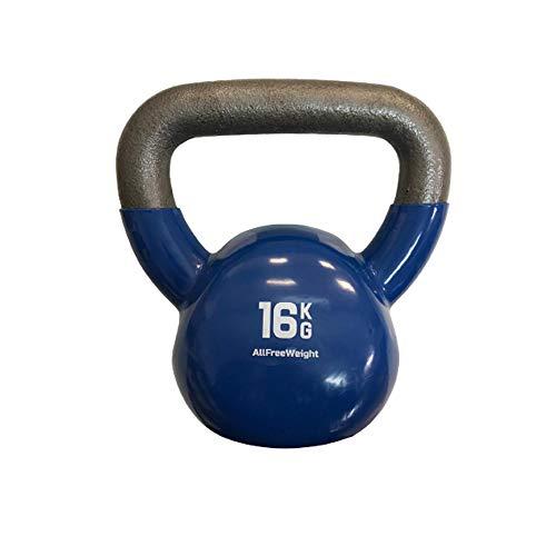 Natural Logistics Pesas Rusas Kettlebell (16 kg). Kettlebell Workout para Competición de Vinilo. Entrenamiento Kettlebell Fitness para Hombre, Mujer. Gimnasio en Casa. KOTTAO