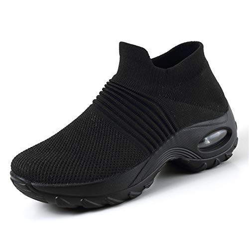 Zapatos Deporte de Mujer Mesh Running Gimnasia Ligero Deportes Casual Transpirable Zapatillas Aumentar Más Altos Sneakers para Correr Trail 35-42 EU