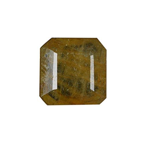 Gemhub Increíble 2.95 CTS EGL Certificado Amarillo Verdoso Fino Corte Cuadrado Esmeralda Piedras Preciosas Sueltas para joyería DH-138