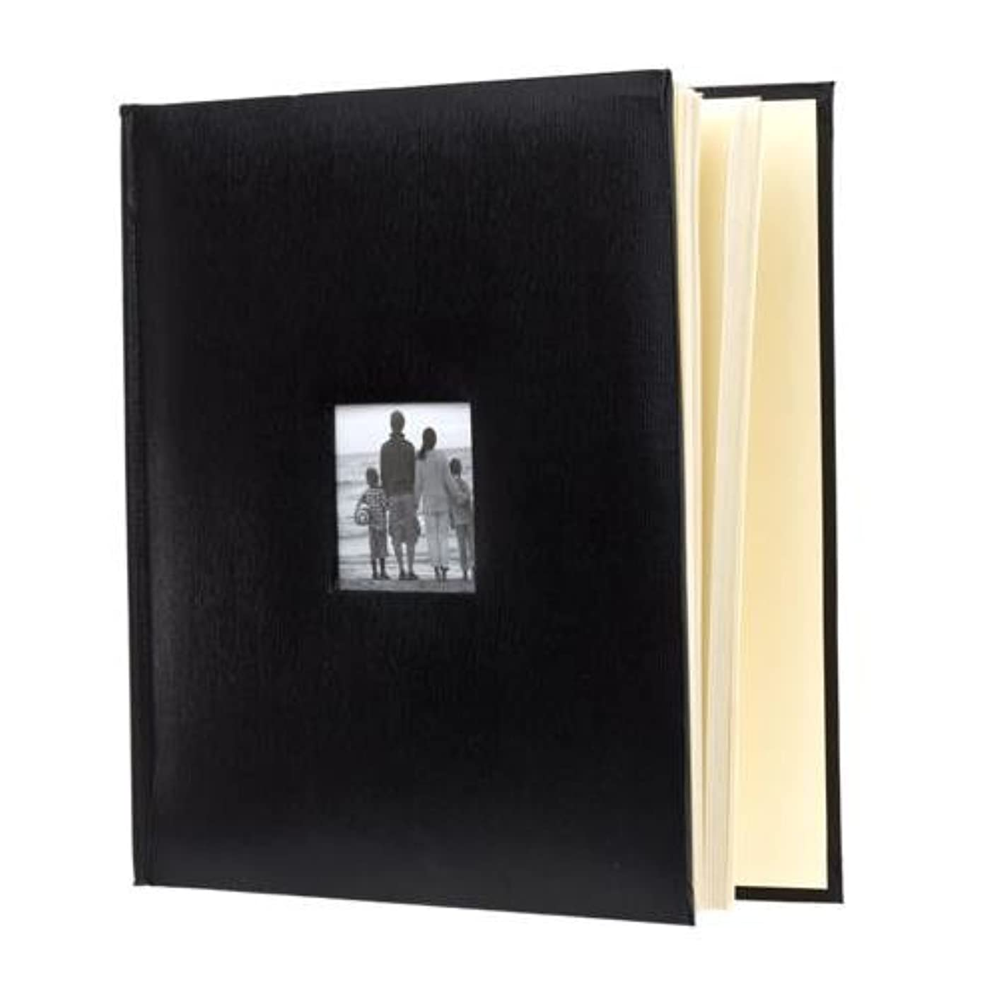 KVD Kleer-Vu Deluxe Albums, Leatherette Collection, 500 Photos, Photo Album Window Frame on Front Cover, Black