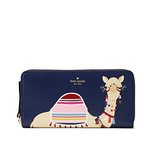 Kate Spade Camel Spice Things Up Neda Leather Navy Wallet
