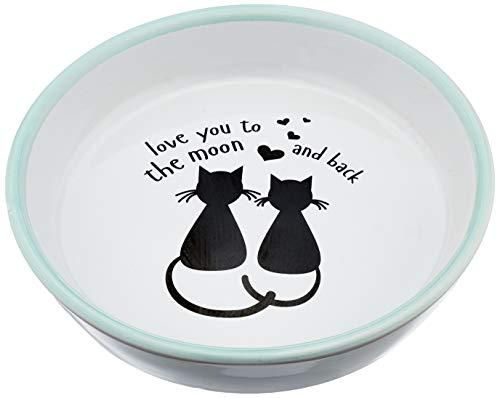 Karlie Napf Keramik, handbemalt 200 ml ø: 16 cm Motiv Katze & Mond