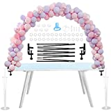 FLWWSO Table Balloon Arch Kit for Different Table Sizes, 12 Ft Adjustable Reusable Balloon Arch Stand Set for Birthday Wedding Graduation Baby Shower Festival Christmas