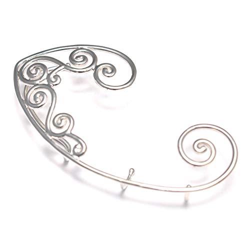 Elfenohren Ear Crawler 925 Sterling Silber, Ear climber Ohrringe, Elfen Fantasy Ear cuffs, Silber Elfen Ohrringe