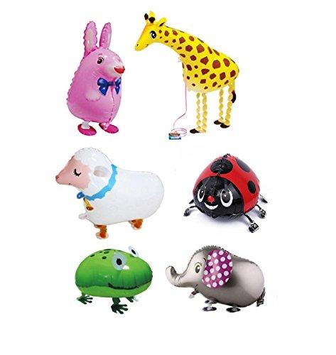 our fantasy time der Zoo, 6er Set XXL super Süß Tierchen Luftballon, Folienballon, Helium Ballons, Deko Luftballon, Aluminiumfolie Ballons. (SET01)