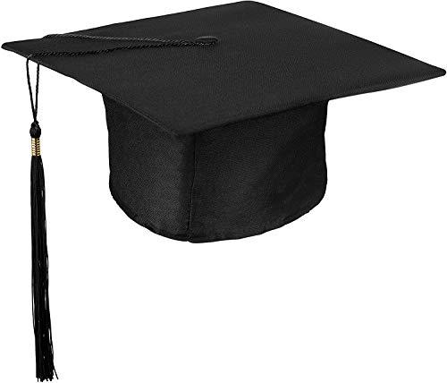 VADOO Doktorhut (Studentenhut) Graduation Cap,für High School Bachelor, Undergraduate,Master und Doktorand , Unisex