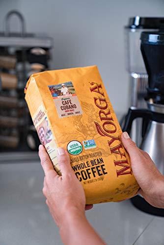 Mayorga Organics Swiss Water Decaf Café Cubano, 2lb Bag, Dark Roast Whole Bean Coffee