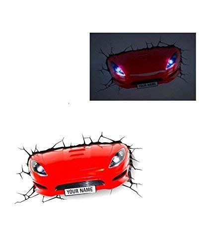 e-concept Distribution France Lampe 3D: Sportwagen rot
