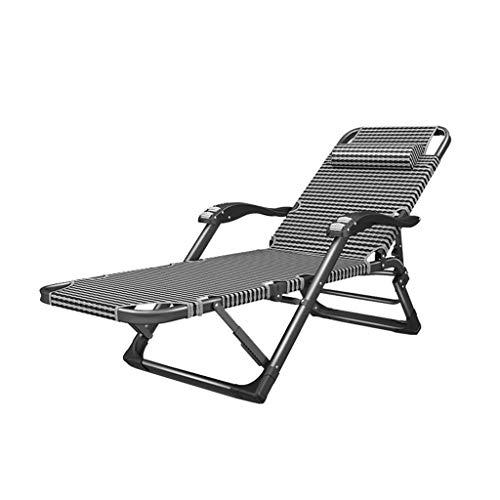 WSDSX Silla reclinable Plegable Silla reclinable Plegable, Tumbonas de salón Zero Gravity, Tumbonas Ajustables para jardín y Patio al Aire Libre con Carga de hasta 300 kg con