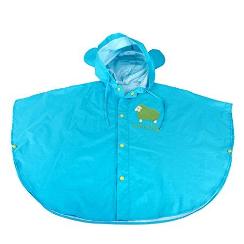 Chic-Chic Poncho Pluie à Capuche Bébé Fille Garçon Dessin Animal Mignon Veste imperméable Manteau de Pluie