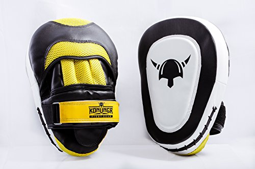 MMA Boxing Punching Mitts - 2 Curved Focus Pads Best for Hook...