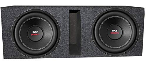 "2) Pyle PLPW10D 10"" 2000W Car Subwoofer Audio Subs DVC 4 Ohm + Ported Vented Box"