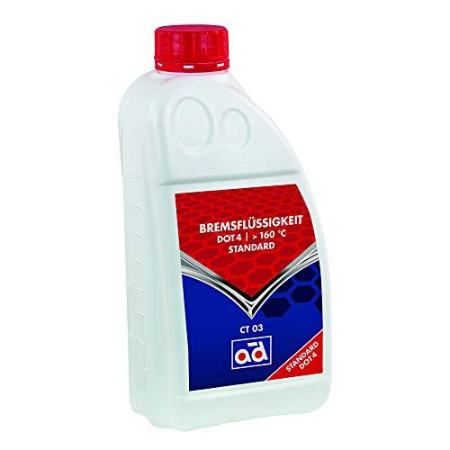 AD Chemie Bremsflüssigkeit Ad Ct 03 Dot 4 1L Bremse Kupplung Nasssiedepunkt >160°C Siedepunkt >260°C Hydraulik Bremssystem Mischbar Scheiben Und Trommelbremse