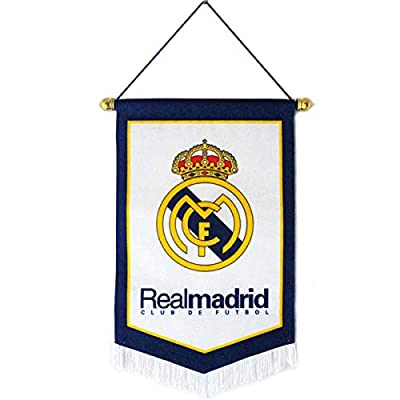 """Louishop Football Club Indoor and Outdoor Flags Vivid Color Hanging Flags Decor for Bedroom/Club/Bar/Event 15""""x9.4"""" (Real Madrid, 15""""x9.4"""")"""