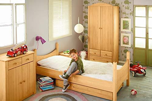 BioKinder 22810 Noah economy set kinderkamer compleet: kinderbed, ladekast, garderobe van massief houten elzenhout