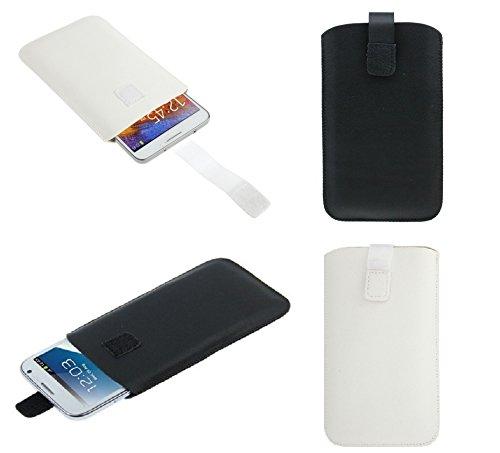 DFVmobile - Etui Tasche Schutzhülle aus Kunstleder mit Rausziehband& Klettbandverschluss für jiayu s3 Advanced - Schwarz