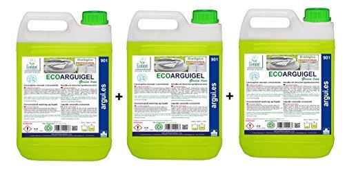 3 ECOARGUIGEL 5 l. Milieuvriendelijk concentraat met handwasmiddel. Milieuvriendelijke reiniging.