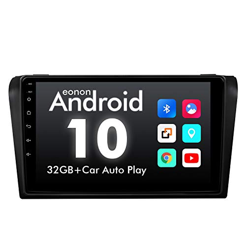 eonon GA9451B Android 10 fit Mazda 3 2006-2009 2G RAM 32G ROM Quad-Core 9' LCD Touchscreen Indash Car Autoradio GPS USB FM RDS DSP Compatible with Bose System Support 4×45W Bluetooth (NO DVD)