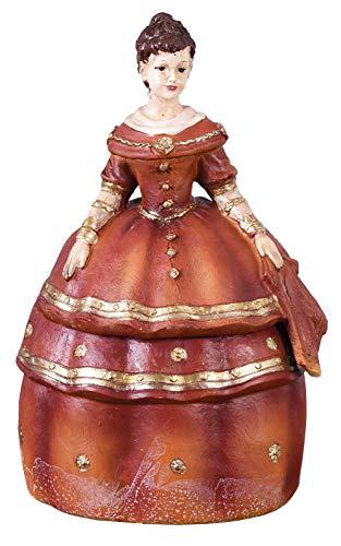 Deckeldose Frauenfigur Schmuckdose Box Antik Aufbewahrungsdose Deckelbox Palazzo Exklusiv