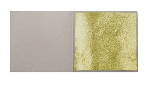 10 Blatt Echtes Blattgold 8 cm x 8 cm 23,75 Karat Echtgold Speisen Essbar